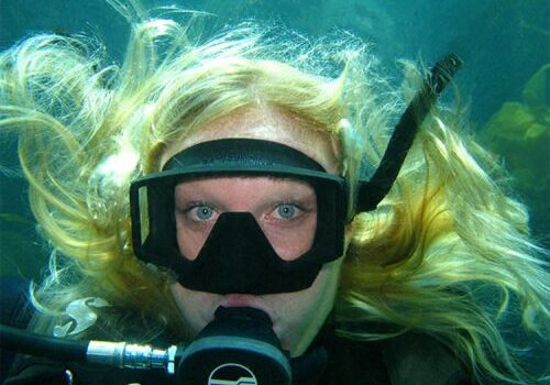 Female Scuba Dive; Introduction to Scuba Diving; Casino Point Dive Park; Catalina Island; Avalon; California